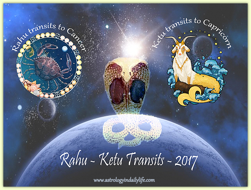 Effects of transit of RAHU in CANCER in August 2017
